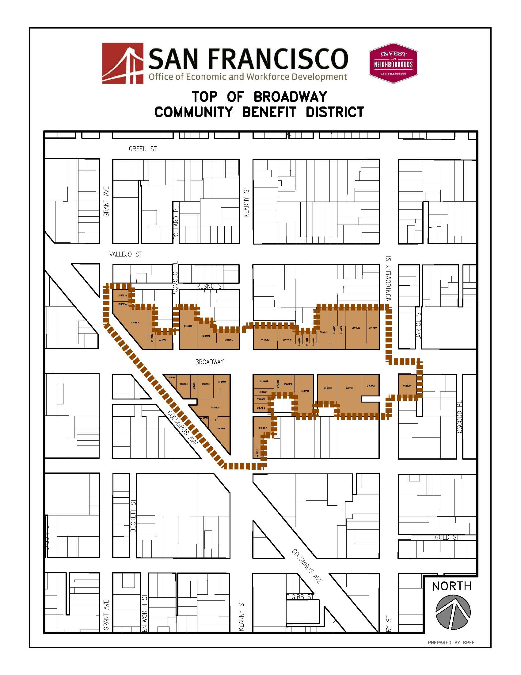 Map of Top of Broadway Community Benefit District