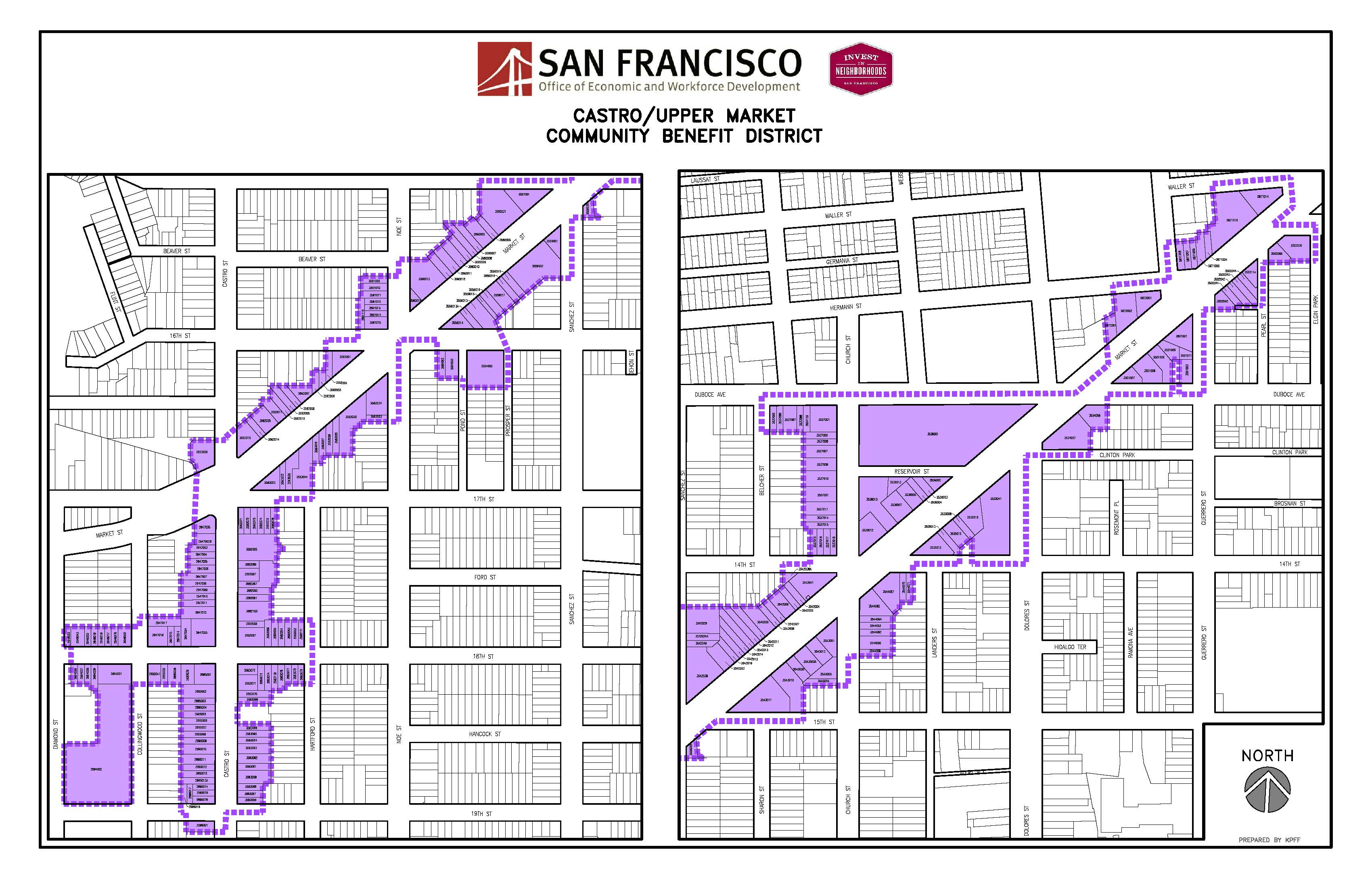 Map of Castro/Upper Market Community Benefit District