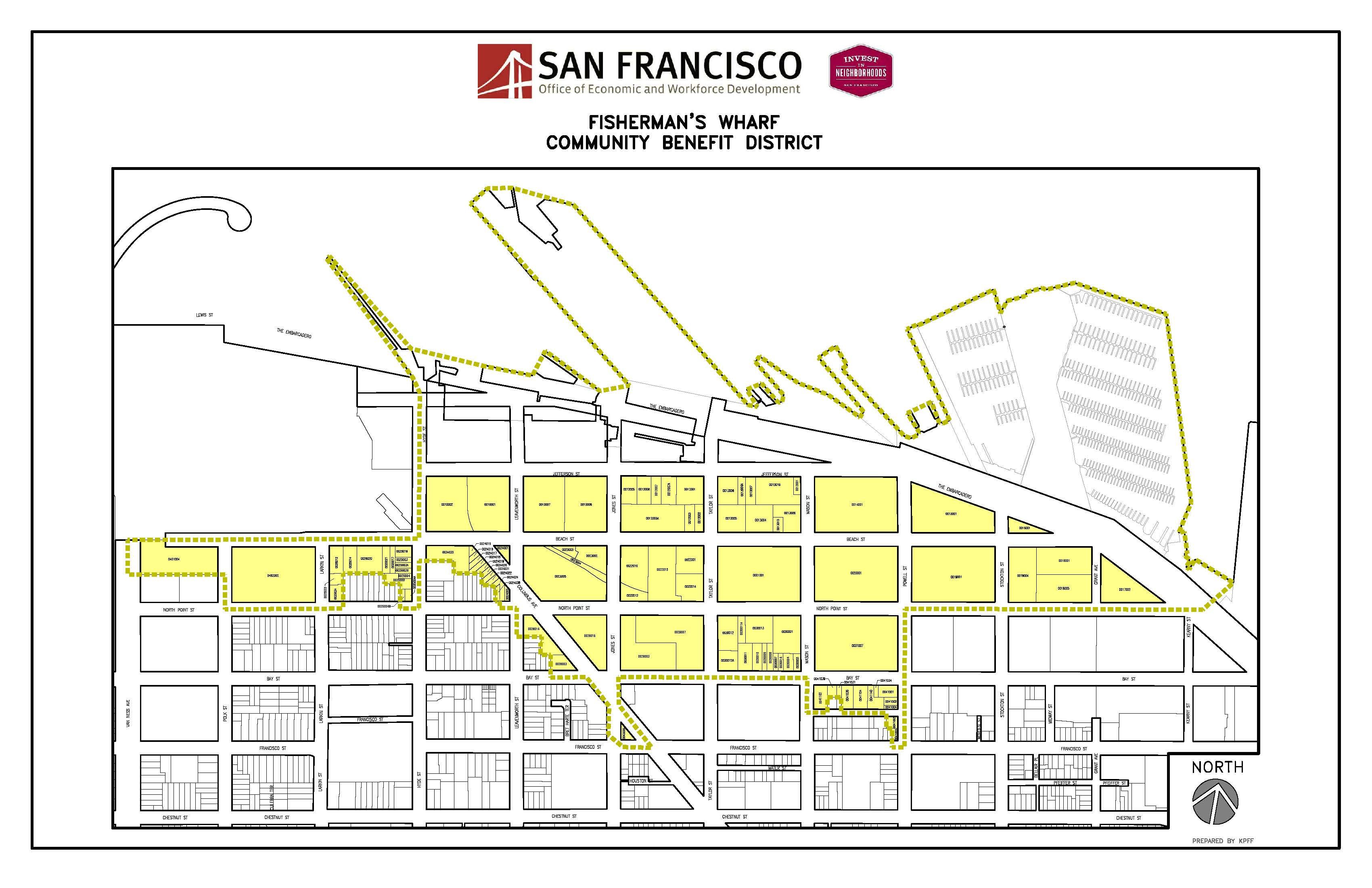 Map of Fisherman's Wharf Community Benefit District