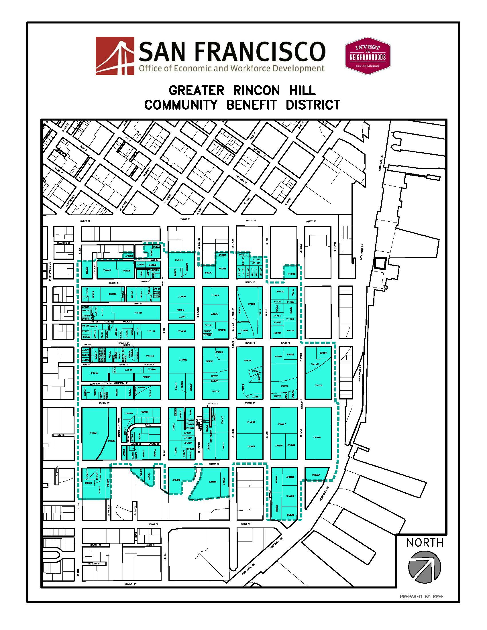 Map of Greater Rincon Hill Community Benefit District