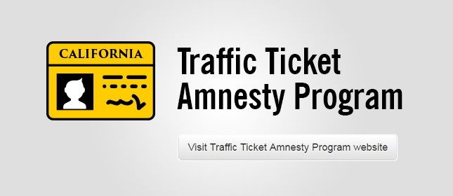 Traffic Ticket Amnesty Program