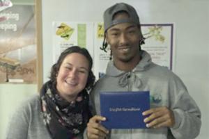 James, RAMP Participant, SFCC High School Graduate & Julia, SFCC/John Muir Charter School Teacher